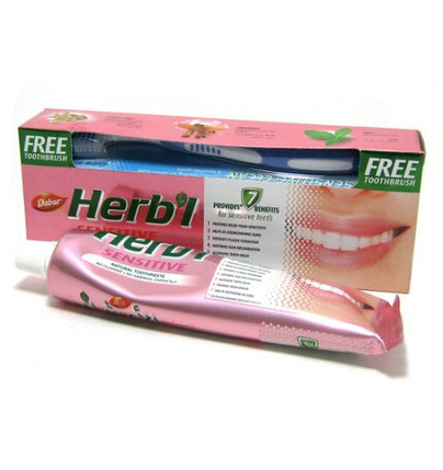 Зубная паста для чувствительных зубов  Dabur Herbal Sensitive, фото 2