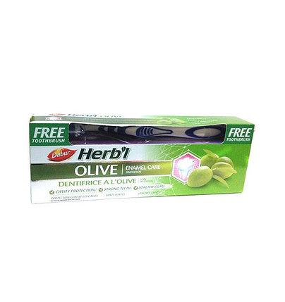 Зубная паста с экстрактом оливы Dabur Herbal Olive, фото 2