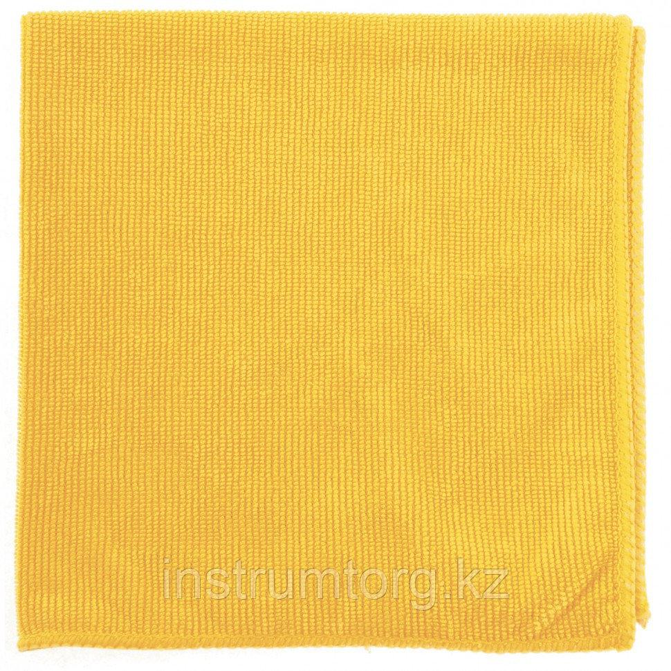 Салфетка из микрофибры жемчужная для бытовой техники и мебели желт. 400х400 мм// Elfe