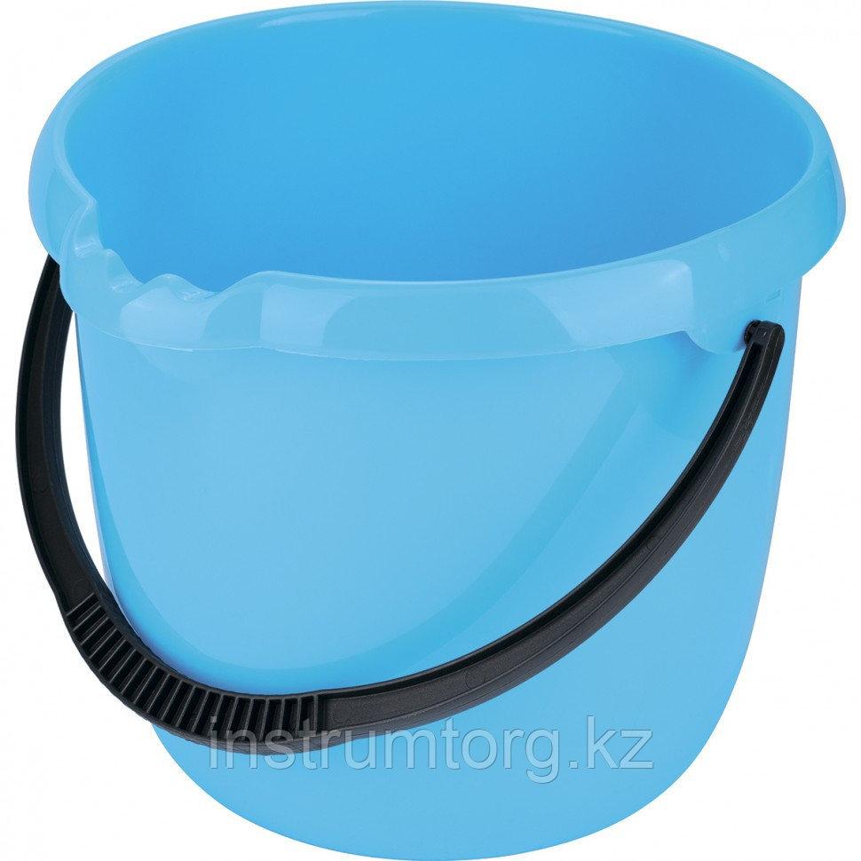 Ведро пластмассовое круглое 12л, голубое// Elfe