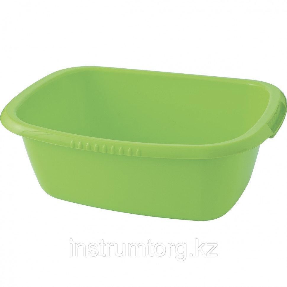 Таз пластмассовый прямоугольный 25л, зеленый ,Россия// Elfe