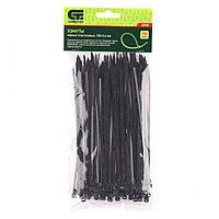 Хомуты, 180 х 3,6 мм, пластиковые, черные, 100 шт.// Сибртех