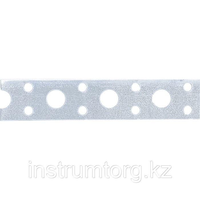 Лента перфорированная вентиляц. прямая, 0,7 мм, LP V, 2 см х 25 м, цинк, Россия// Сибртех