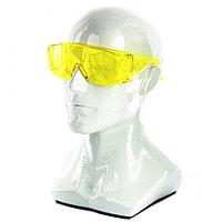 Очки защитные открытого типа, желтые, ударопрочный поликарбонат, бок. и верх. защита// СИБРТЕХ