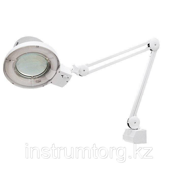 Лупа с подсветкой 3-х кратная, D 125 мм, со струбцинным креплением к столу// Matrix