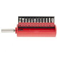 Набор бит, сталь S2, 12 шт., встроенный магнитный адаптер, в пласт. боксе// Matrix, фото 1
