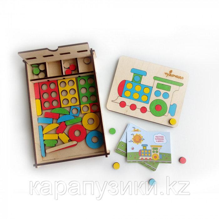 Развивающая игра Мозаика паровозик