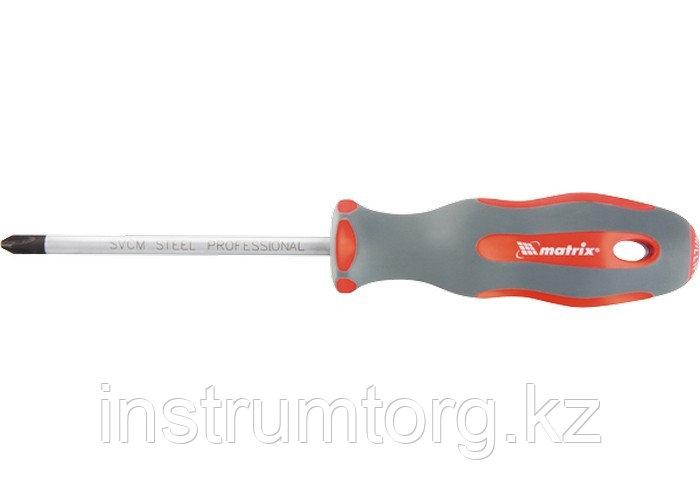 Отвертка Profi, Ph2х150 мм, SVСM, двухкомп. рукоятка// MATRIX