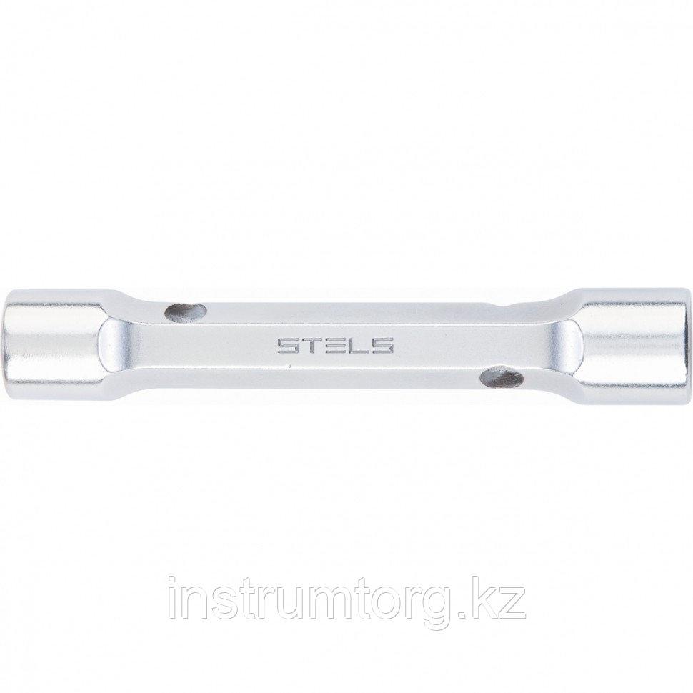 Ключ трубка торцевой усиленный, 17х19 мм, CrV// Stels