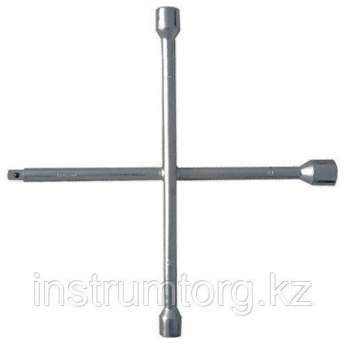 "Ключ-крест баллонный, 17 х 19 х 21 мм, под квадрат 1/2"", толщина 14 мм// Сибртех"