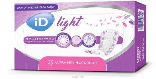 Прокладки урологические женские ID Light Ultra Mini 28 штук, фото 2