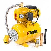 Насосная станция эжекторная PSD800C, 800 Вт, 2400 л/ч, ресивер 24 л, всасывание 20 м// Denzel