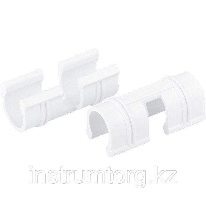 Зажим для крепления плёнки к каркасу парника, d-12 мм, 20 шт, белый// Palisad