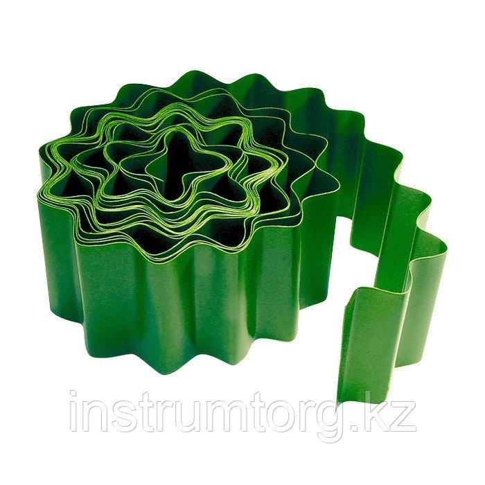Бордюрная лента, 15х900 см, полипропиленовая, зеленая, Россия// Palisad