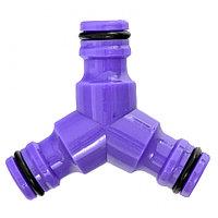 Тройник для разветвления или соединения, штуцерный, пластмассовый// Palisad
