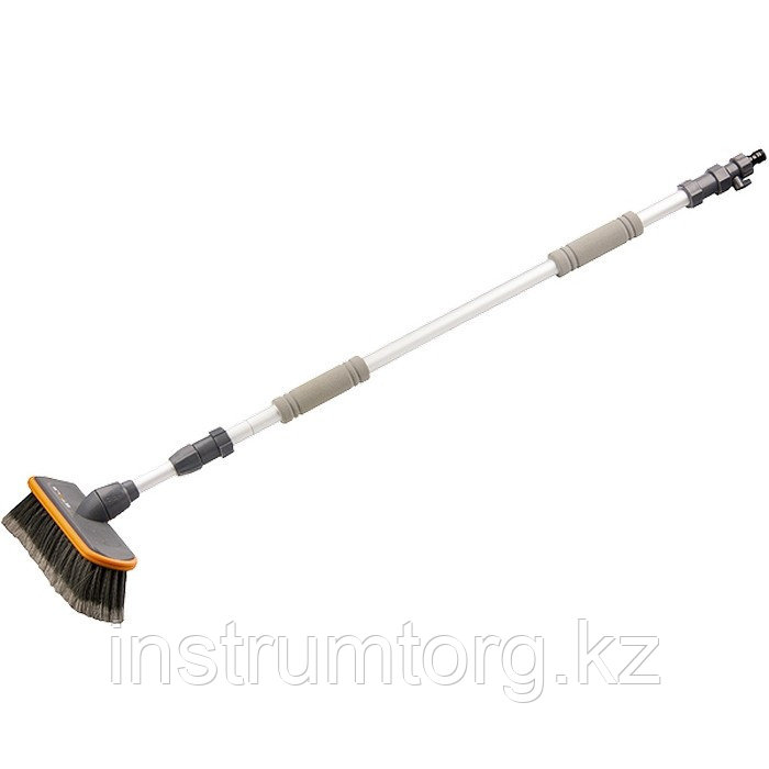 Щетка с подачей воды, телескоп. 2 части (щетка, ручка телескопическая)// Stels