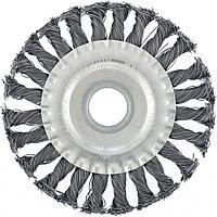 Щетка для УШМ 100 мм, посадка 22,2 мм, плоская, крученая проволока 0,5 мм// Matrix, фото 1