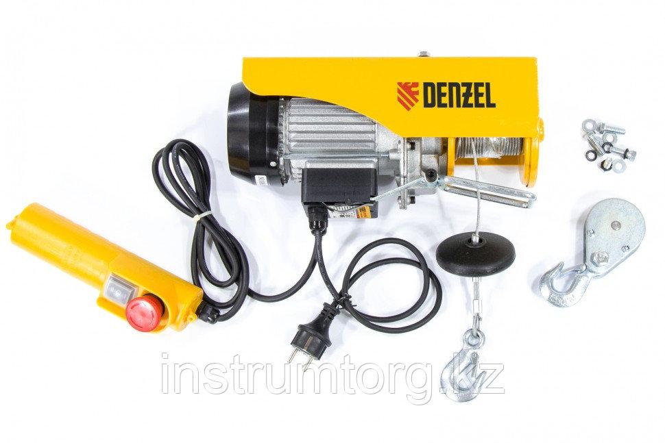 Тельфер электрический TF-250, 0,25 т, 540 Вт, высота 12 м, 10 м/мин// Denzel