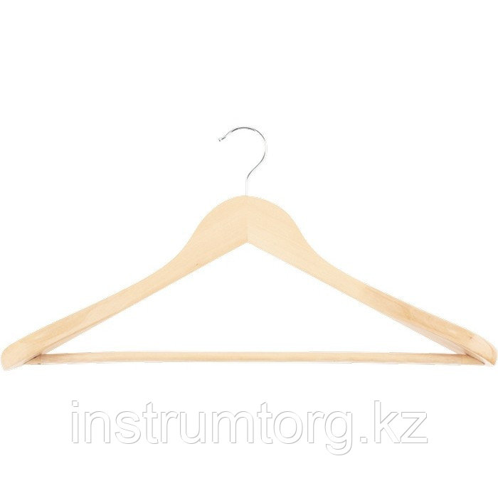 Вешалка деревянная для верхней одежды с антискользящей перекладиной// Elfe