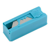 Лезвия, 19 мм, трапециевидные, пластиковый пенал, 12 шт.// Gross, фото 1