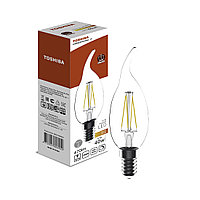 Филаментная лампа Toshiba CL35 5W (40W) 2700K 470lm E14 Dim Тёплый