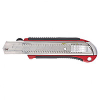 Нож, 25 мм, выдвижное лезвие, усиленная метал. направляющая, метал. обрезин. ручка// Matrix