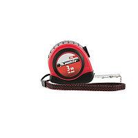 Рулетка Status autostop magnet, 3 м х 16 мм, двухкомпонентный корпус, зацеп с магнитом// Matrix