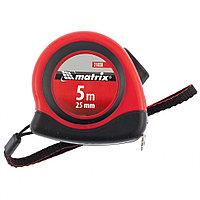 Рулетка Status autostop magnet, 5 м х 25 мм, двухкомпонентный корпус, зацеп с магнитом// Matrix, фото 1