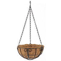 Кашпо подвесное с декором, с кокосовой корзиной, диаметр 25 см// Palisad