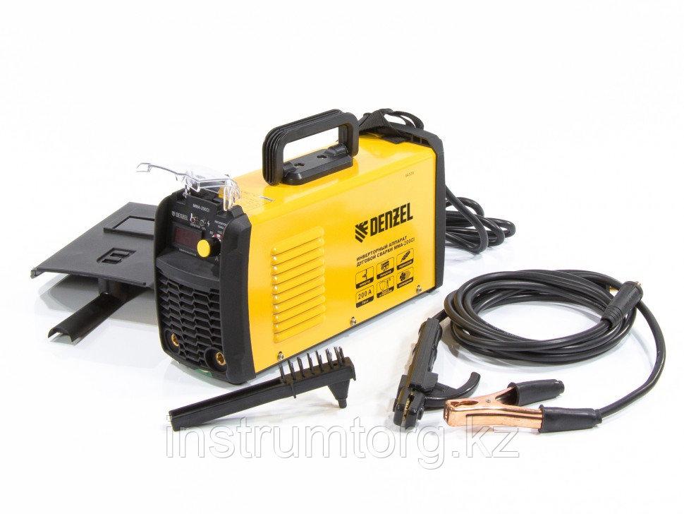 Аппарат инверторный для дуговой сварки Denzel ММА-200CI, 200 А, ПВР 80%