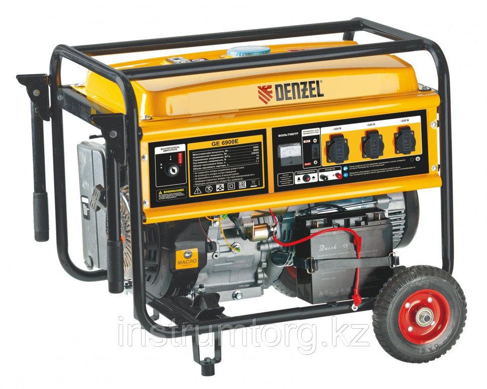 Генератор бензиновый GE 8900E, 8,5 кВт, 220В/50Гц, 25 л, электростартер// DENZEL