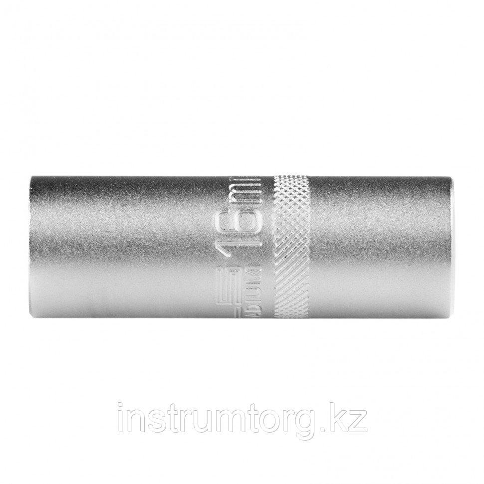 "Головка торцевая свечная, 12-гранная,16 мм, под квадрат 1/2""// Stels"