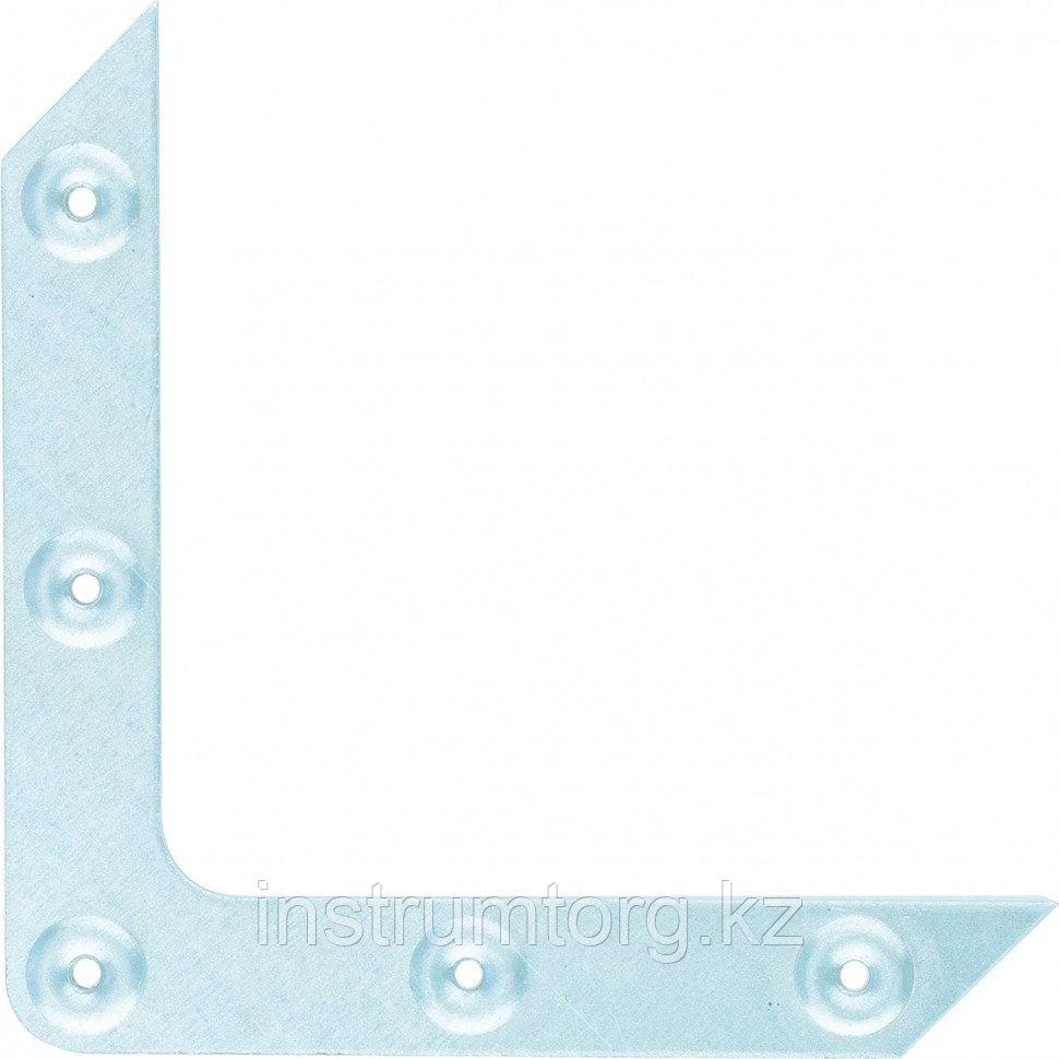 Уголок оконный, 1,2 мм, 100х100 мм, цинк, Россия// Сибртех