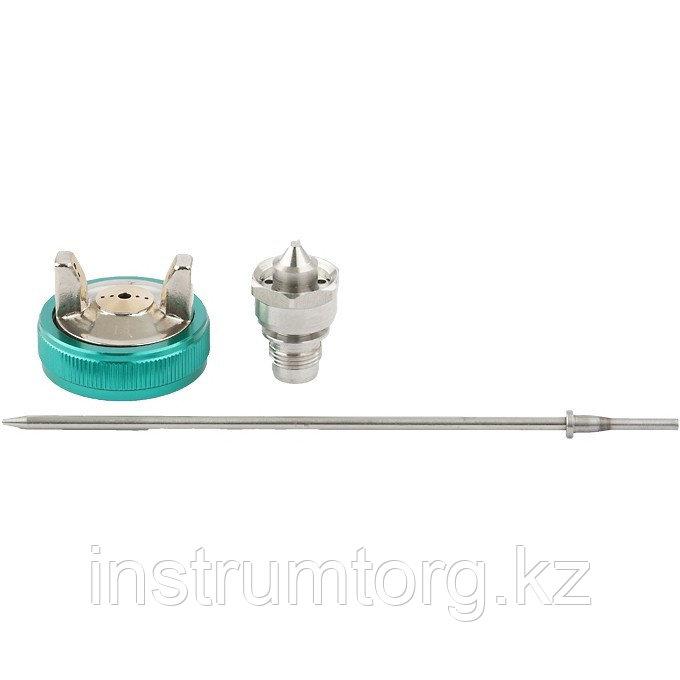 Набор для краскораспылителя AS802HVLP: сопло 1,7мм, игла, чашка// Stels