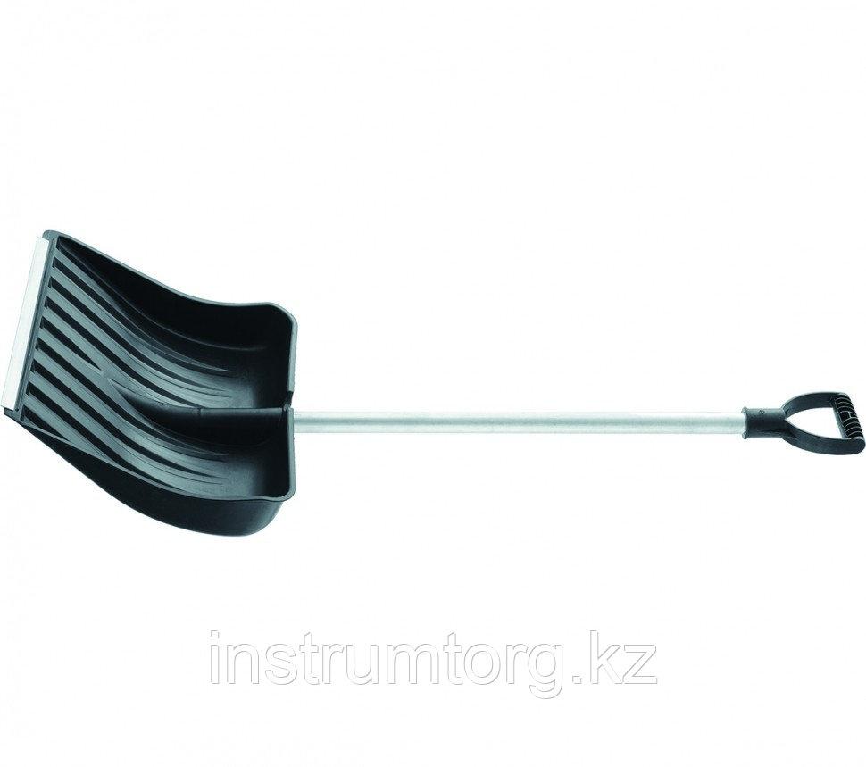 Лопата снеговая, 512х408 мм, алюмин. черенок, морозостойкий пластик // СИБРТЕХ Россия