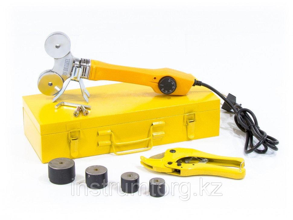 Аппарат для сварки пластиковых труб DWP-750, 750Вт, 260-300 град.,компл насадок, 20 - 40 мм// Denzel
