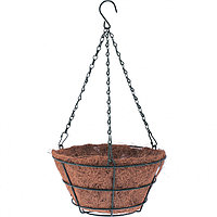 Кашпо подвесное с вкладышем из коковиты, конус, диаметр 25 см// Palisad