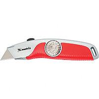 Нож, выдвижное трапецивидное лезвие, эргономичная двухкомпонентная рукоятка// Matrix