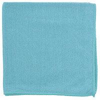 Салфетка из микрофибры жемчужная для бытовой техники и мебели голубая 400х400 мм// Elfe