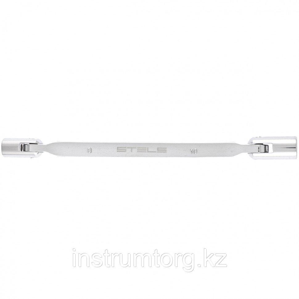 Ключ шарнирный 8х10 мм, CrV, 12 гран.// Stels