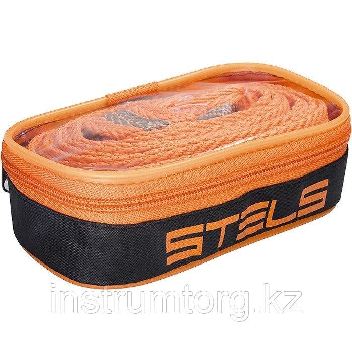 Трос буксировочный 10 тонн, 2 крюка, сумка на молнии, Россия // Stels