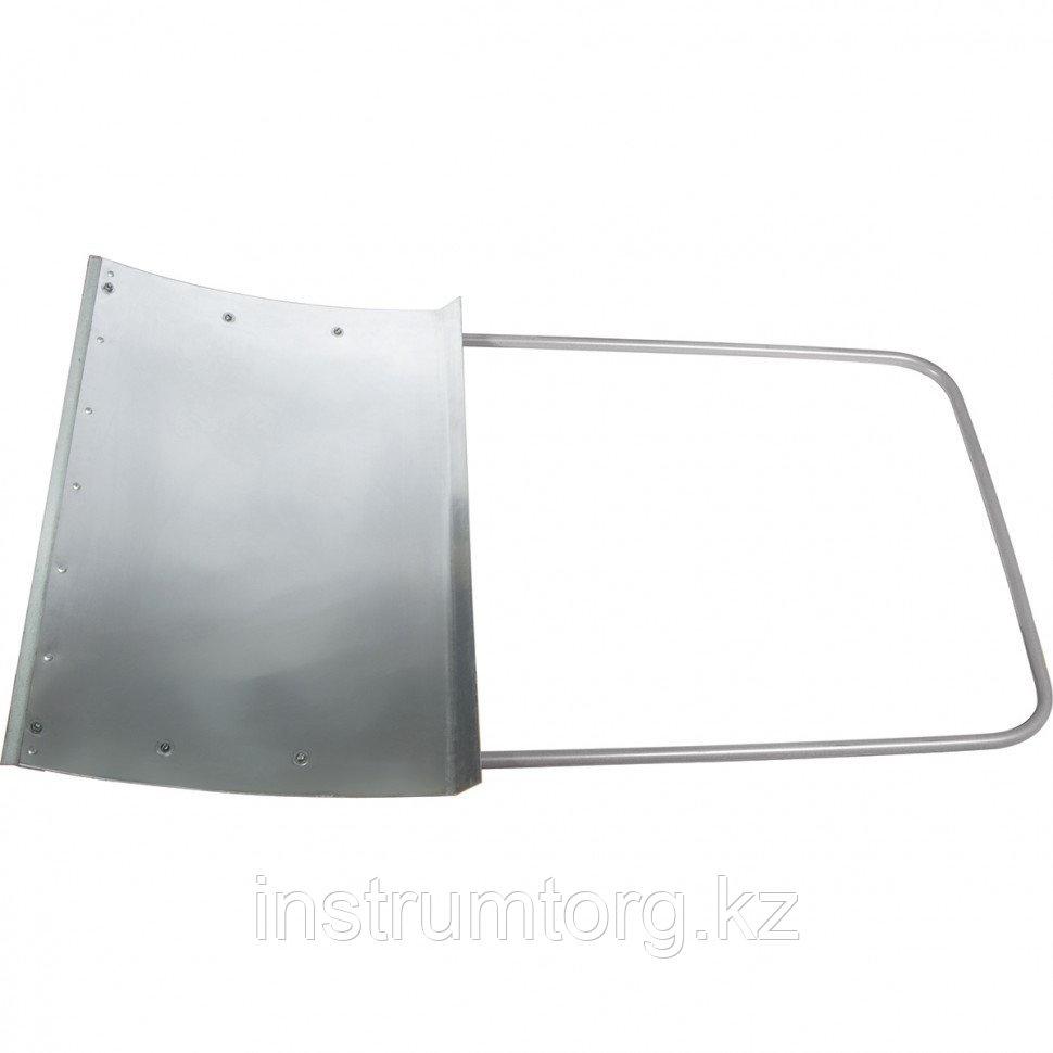 Движок для уборки снега стальной оцинкованный, 755х495х1245 мм, стальная рукоятка, Россия// Сибртех