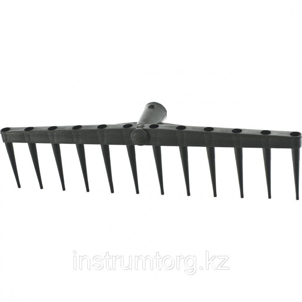 Грабли 12-зубые, 450 мм, без черенка, сенные полиэтиленовые// СИБРТЕХ Россия