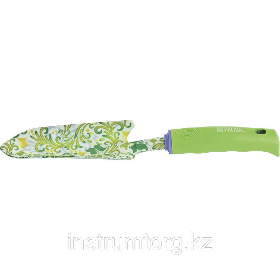 Совок посадочный узкий, 55х320 мм, стальной, пластиковая рукоятка, FLOWER GREEN// Palisad