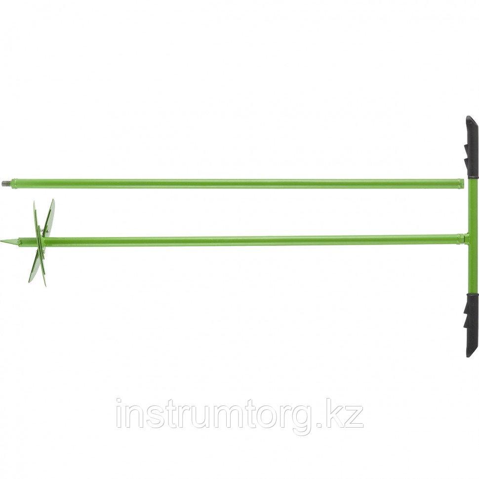 Бур лопастной со сменными ножами, 2110 мм, удлинитель, диаметр 150 мм, 200 мм, Россия// Сибртех