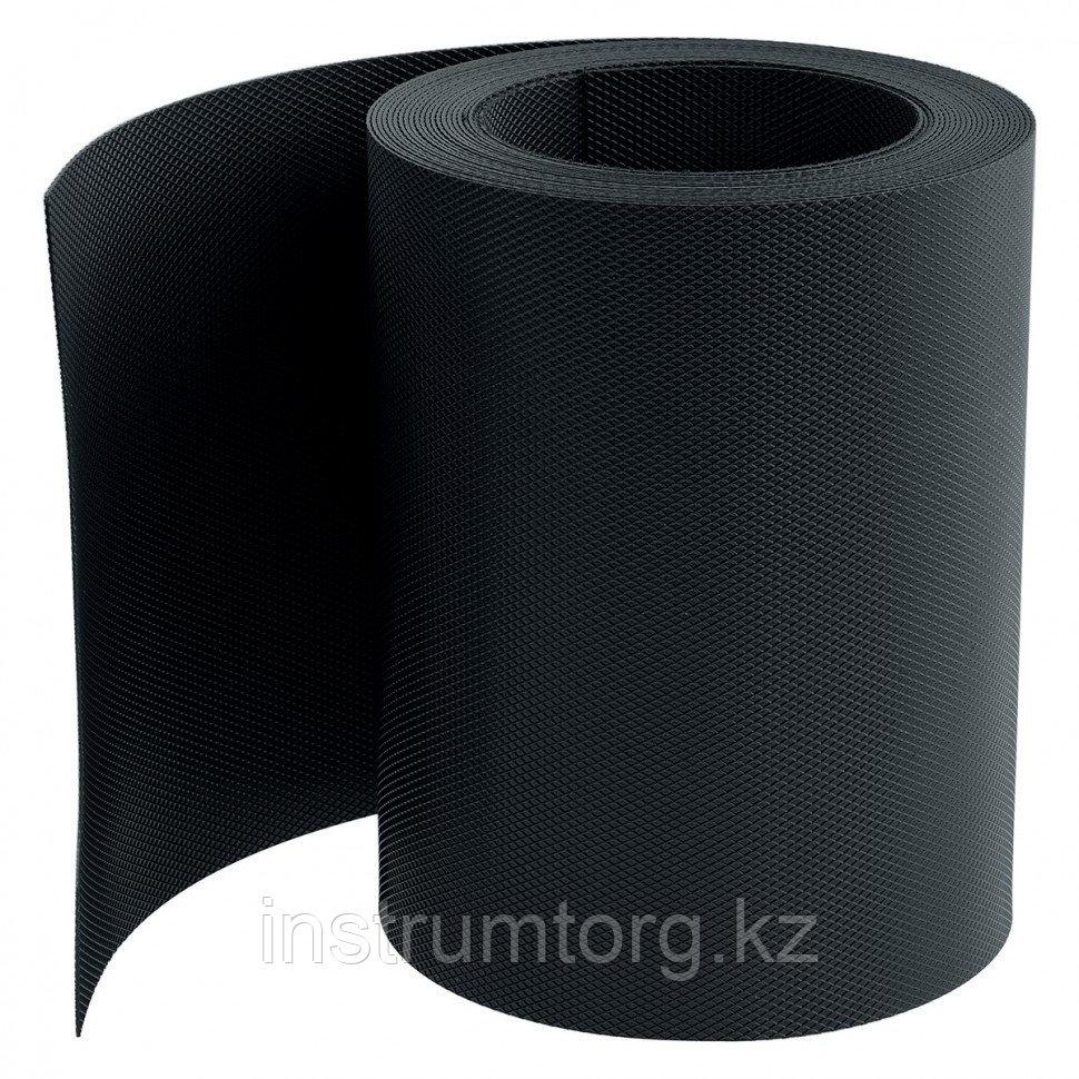 Бордюрная лента, 15х900 см, полипропиленовая, черная, Россия// Palisad