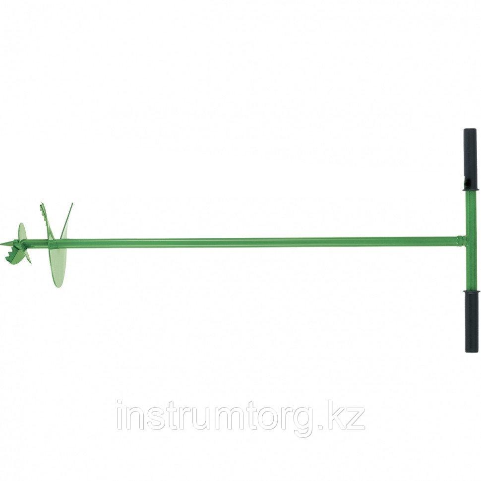 Бур садовый шнековый, 1085 мм, диаметр 250 мм, Россия// Сибртех