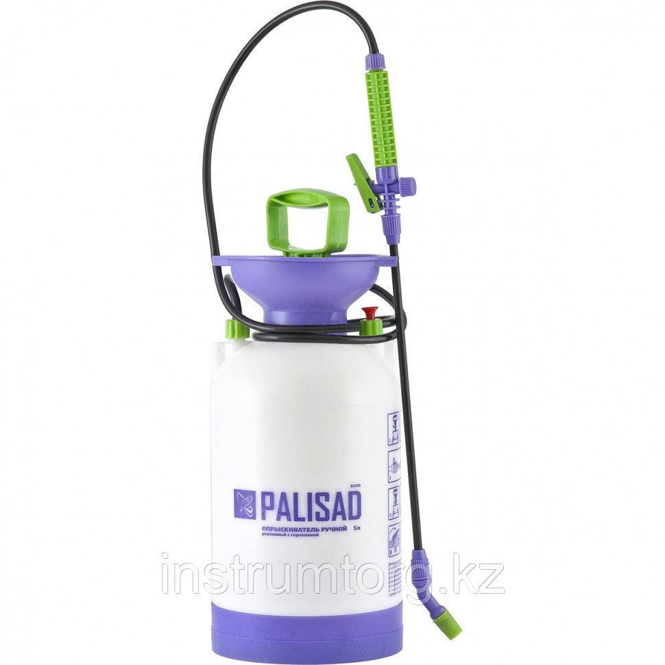 Опрыскиватель ручной усиленный с горловиной 5л, с насосом, шлангом, разбрызгиватель// PALISAD