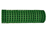 Решетка заборная в рулоне, 1х20 м, ячейка 50х50 мм, пластиковая, зеленая// Россия