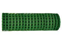 Решетка заборная в рулоне, 1,6х25 м, ячейка 22х22 мм, пластиковая, зеленая// Россия